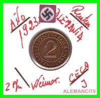 GERMANY - MONEDA DE 2- RENTENPFENNIG AÑO 1923 J  Bronze - [ 3] 1918-1933 : República De Weimar