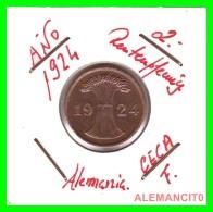 GERMANY - MONEDA DE 2- RENTENPFENNIG AÑO 1924 F  Bronze - [ 3] 1918-1933 : República De Weimar