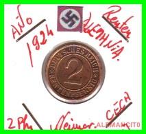 GERMANY - MONEDA DE 2- RENTENPFENNIG AÑO 1924 J  Bronze - [ 3] 1918-1933 : República De Weimar
