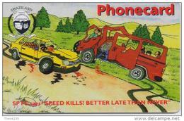 SWAZILAND  PHONECARD(CHIP) SPEED KILLS -3/02-USED(2) - Swaziland