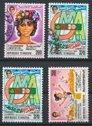 °°° TUNISIA - Y&T N°1102/4 - 1988 °°° - Tunisia (1956-...)