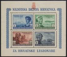 10228 Croacia Bloco 4 Com E Sem Denteação N - Croatia