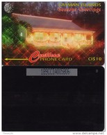 CAYMAN  ISL. PHONECARD CHRISTMAS WISHES CN:189CCIA-15000pcs-1/97-USED(2) - Cayman Islands
