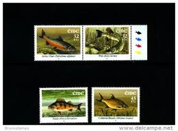 IRELAND/EIRE - 2001  FRESHWATER FISHES  SET  MINT NH - 1949-... Repubblica D'Irlanda