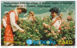 BULGARIA PHONECARD GPT(BETKOM) ROSE PICKERS CN:54BULG ,B072- 45000pcs-4/98-USED(2) - Bulgaria