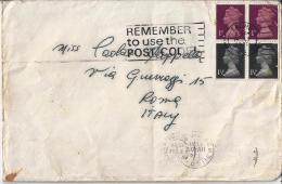 GRAN BRETAGNA) 1971 Storia Postale Annullo A Targhetta Inglese Ed Italiano Sul Retro - 1952-.... (Elisabetta II)