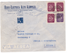 KN27    Portugal 1950 Cover Airmail Lisboa To Zurich - Lettere