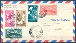 1957 , GUINEA , SOBRE CIRCULADO ENTRE RIO BENITO ( BOLONDO ) Y CAMERÚN , CORREO AÉREO - Guinea Española