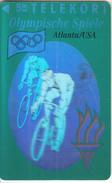 DENMARK - Atlanta 1996 Olympics, Biking(3D Card), Tirage 11000, 08/93, Mint - Giochi Olimpici