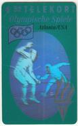 DENMARK - Atlanta 1996 Olympics, Fencing(3D Card), Tirage 11000, 08/93, Mint - Giochi Olimpici