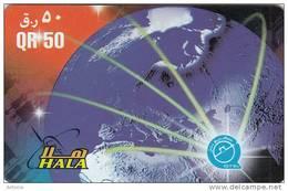 QATAR - Globe, Q Tel Recharge Card QR 50, Used