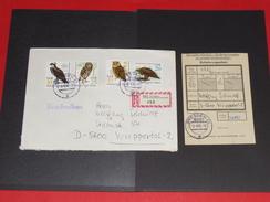 Brief Cover DDR Deutschland Recommande Einschreiben Dresden - Wuppertal 1982 Mit Einlieferungsschein Vögel Vogel Bird Gr - [6] Democratic Republic