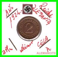 GERMANY - MONEDA DE 2- REICHSPFENNIG AÑO 1924 A Bronze - [ 3] 1918-1933 : República De Weimar