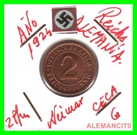 GERMANY - MONEDA DE  2- REICHSPFENNIG AÑO 1924 G  Bronze - [ 3] 1918-1933 : República De Weimar