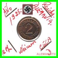 GERMANY - MONEDA DE  2- REICHSPFENNIG AÑO 1925 D  Bronze - [ 3] 1918-1933 : República De Weimar