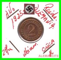 GERMANY - MONEDA DE  2- REICHSPFENNIG AÑO 1925 E  Bronze - [ 3] 1918-1933 : República De Weimar