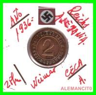 GERMANY - MONEDA DE  2- REICHSPFENNIG AÑO 1936 A  Bronze - [ 3] 1918-1933 : República De Weimar