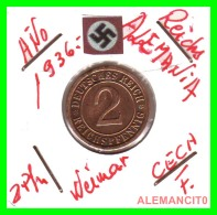 GERMANY - MONEDA DE  2- REICHSPFENNIG AÑO 1936 F  Bronze - [ 3] 1918-1933 : República De Weimar