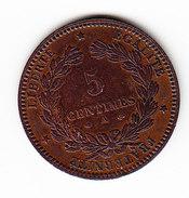 FRANCE KM  821.1,  UNC, 5c,  1872 A .  (F 1508) - France