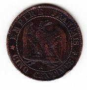 FRANCE  KM 777.1, 5c, 1855A, VF.   (F 1609) - France