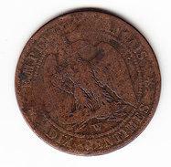 FRANCE  KM 771.7, 1853W, 10c.   (F 1610) - D. 10 Centimes
