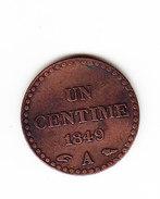 FRANCE KM  754, XF, 1c, 1849 A .   (F 1510-B) - A. 1 Centime