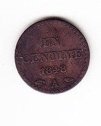 FRANCE KM  754, 1c, 1848 A.    (F 1510-A) - France