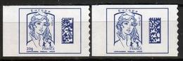 "FRANCE 2015/16 / 2 TIMBRES CARNET N° 1176a+1216a "" Datamatrix "" Bleu Foncé / NEUF AVEC ET SANS GRAMMAGE  XX....DETAILS - Adhésifs (autocollants)"