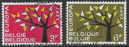 Belgium SG1822-1823 1962 Europa Set 2v Complete Good/fine Used [33/28667/6D] - Belgium
