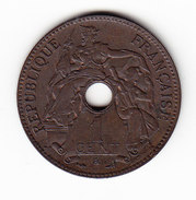 FRANCE INDO CHINE KM 8, 1903, 1 Cent. (FP09) - Colonies