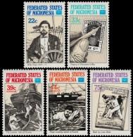 ~~~ Micronesia 1986 - Ships , Discoveries & Famous Captains  - Mi. 57/61  ** MNH ~~~ - Micronesië