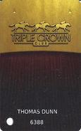 The Downs At Albuquerque Casino - Albuquerque, NM USA - Triple Crown Club - Slot Card