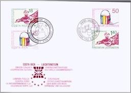 LIECHTENSTEIN - FDC 6.6.1988 Mi #945-946 + COSTA RICA