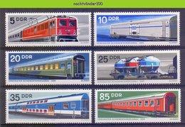 Mwm127 TRANSPORT TREINEN WAGON TRAINS ZUG EISENBAHN SCHIENENFAHRZEUGBAU DDR 1973 PF/MNH - Treinen