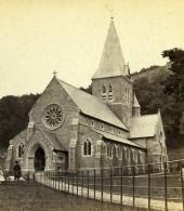 Royaume Uni Somerset Clevedon Eglise All Saints Church Anciennne Photo Stereo 1865 - Photos Stéréoscopiques