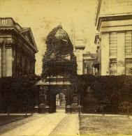 Royaume Uni Cambridge Porte D'Honneur Caius Court Anciennne Photo Stereo 1865 - Stereoscopic