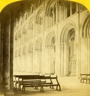 Royaume Uni Peterborough Cathedrale Interieur Anciennne Photo Stereo Sedgfield 1865 - Stereoscopic