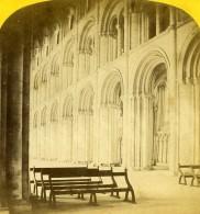 Royaume Uni Peterborough Cathedrale Interieur Anciennne Photo Stereo Sedgfield 1865