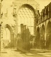Ecosse Edimbourg Abbaye Holyrood Abbey Chapel Anciennne Photo Stereo 1860