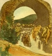Irlande Donegal Drimnagh Finnegal Bridge Anciennne Photo Stereo 1865
