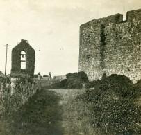 Royaume Uni Jersey Château De Montorgueil Terrasse Ancienne Photo Stereo SIP 1900