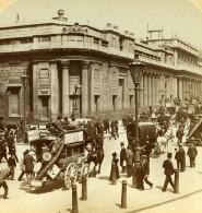 Londres Banque D'Angleterre Animation Anciennne Photo Stereo Underwood Strohmeyer & Wyman 1896