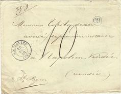 1849- Enveloppe En Port Du De MOISSELLES ( Ex. S Et O )  Taxe 10 D. Pour 35 G. - 1849-1876: Classic Period