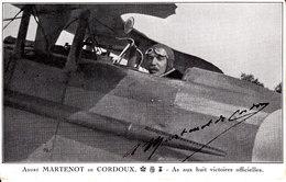 Aviation : André Martenot De Cordoux . As Aux Huit Victoires Officielles . - Aviateurs