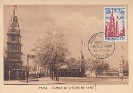 Carte  Maximum  1er  Jour     Cinquantenaire   De   La   FOIRE  DE  PARIS    1954 - Cartes-Maximum