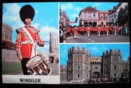 POSTCARD '70s - WINDSOR - SERGEANT DRUMMER COLDSTREAM GUARDS - GUARDS BAND - England