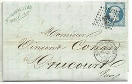 LETRE 1855 BERNAY -DE-EURE A THIBERVILLE   SCANER - Marcofilia (sobres)