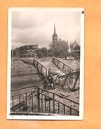 """Foto Photo Onbekende Kerk In Vlaanderen -achterzijde Foto """"Belgien Vormarsch 90mm X 60mm - Weltkrieg 1939-45"""