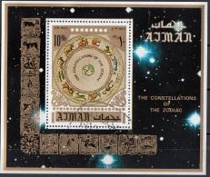 Bf. 269A Ajman 1971 Astrologia Costellazioni Zodiaco Astronomia Nuovo Preoblit.