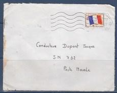 =Sur Devant D'enveloppe Timbre N°13 Mont De Marsan 18.4.1967 Adressé à SN 732 Poste Navale - Franchise Stamps
